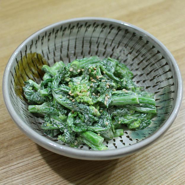 鳥取のおいしい有機野菜 TREE&NORF 菜の花のマヨからし和えサラダ