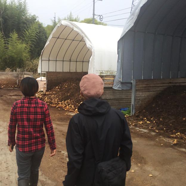 鳥取のおいしい有機野菜 TREE&NORF/岡山県里山農場の堆肥場