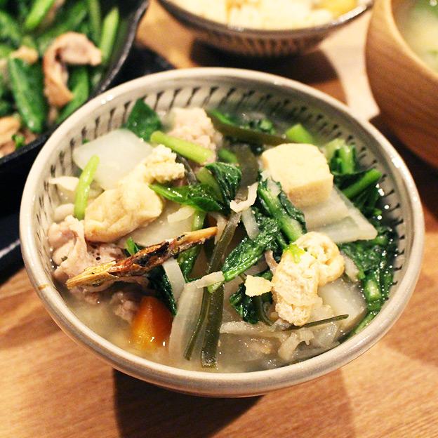 鳥取のおいしい有機野菜 TREE&NORF 豚と小松菜の味噌煮