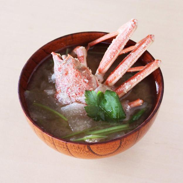 鳥取の冬の味覚!親がにとだいこんの味噌汁