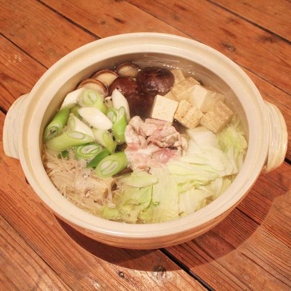 ウマヅラハギとたっぷり白菜のちり鍋